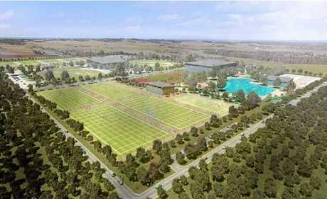A concept of the Fraser Coast Sport Precinct.