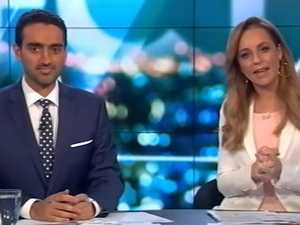 Carrie Bickmore in tears.