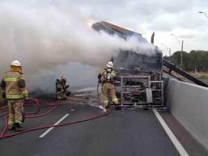 Truck fire causes Gateway Motorway closure