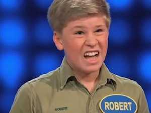 Robert Irwin baffles Family Feud host