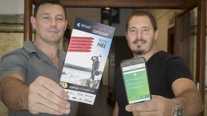 Aaron Wittman and Troy Brown of Coffs Coast start-up Risk Angel.