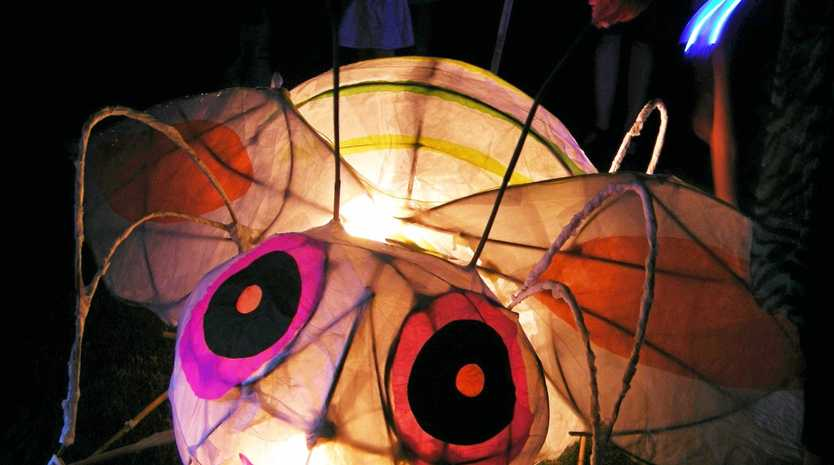 Come and help to create some head-turning glow-in-the-dark creations, like this bug.