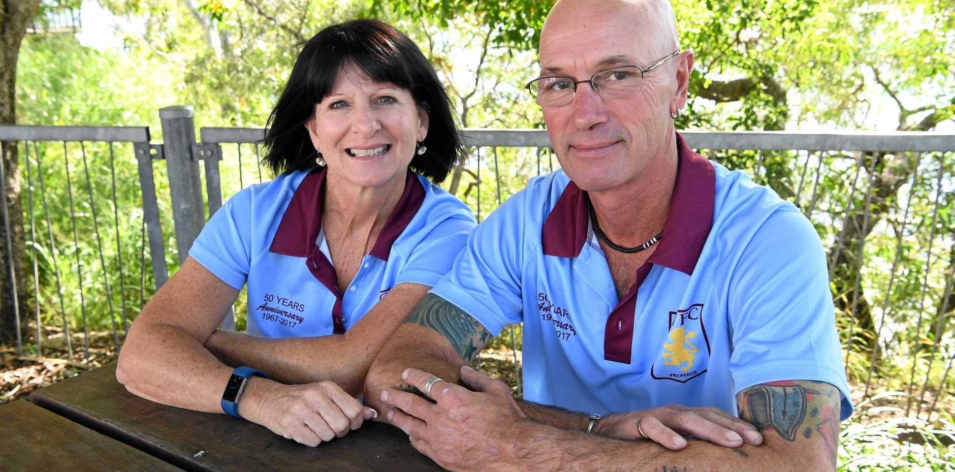 PROUD HISTORY: Kayleen Bryan and Dave Smith believe the club's focus on juniors is the key to success.