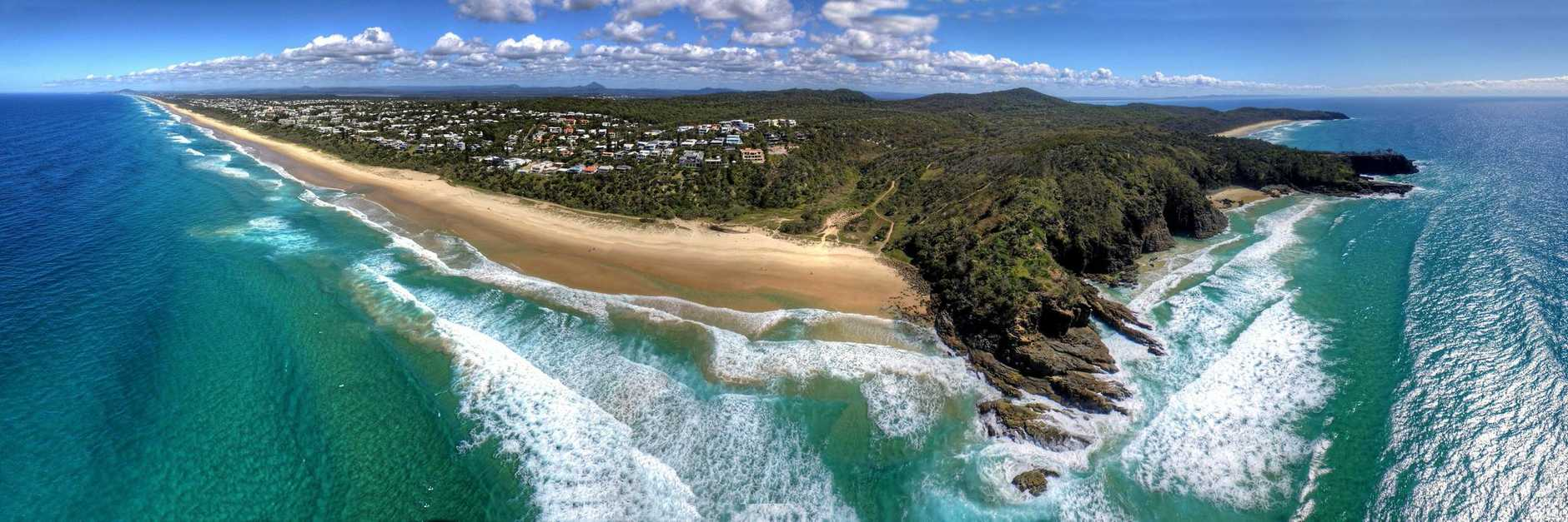 LEADING LIGHT: Sunshine Beach, and other northern suburbs, performed strongly in the real estate stakes again.