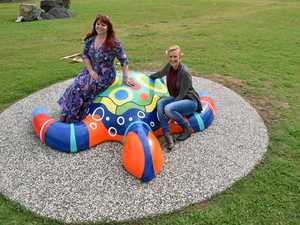 Colourful creations: Life size marine creatures in Bay