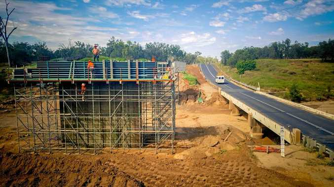 Works on the Cherwell Creek Bridge upgrade are full steam ahead.