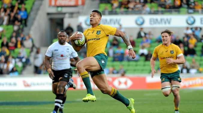 Israel Folau was one of the Wallabies' best against Fiji.