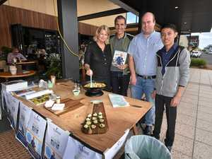CHEF TO THE STARS: Chef Kate McAloon, Ray Karam of Nourish in Ballina, Greg Youngberry and Jonathan Ilao of Inglewood Farms.