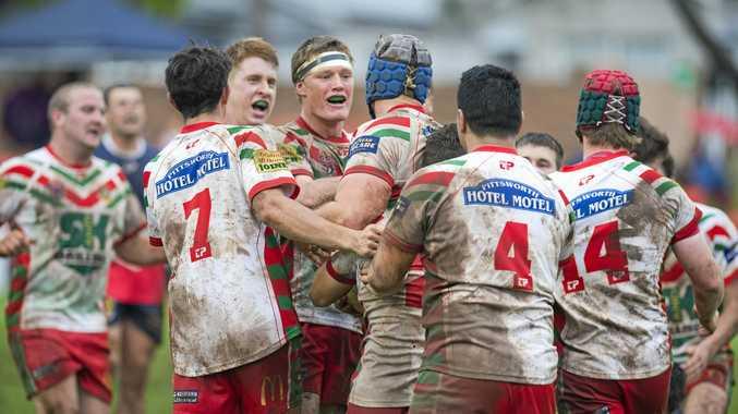CHAMPIONS: Pittsworth celebrates its grand final win last season.