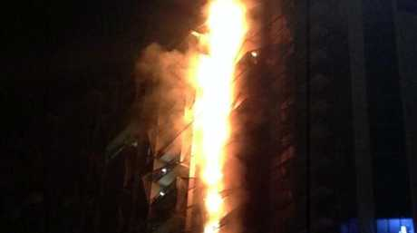 The blaze in the Docklands tower, Melbourne engulfed 13 storeys in 15 minutes.