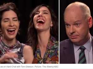 Tom Gleeson mocks The Veronicas over 'twin pain'
