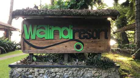The welcome sign at Walindi Plantation Resort in New Britain, PNG.
