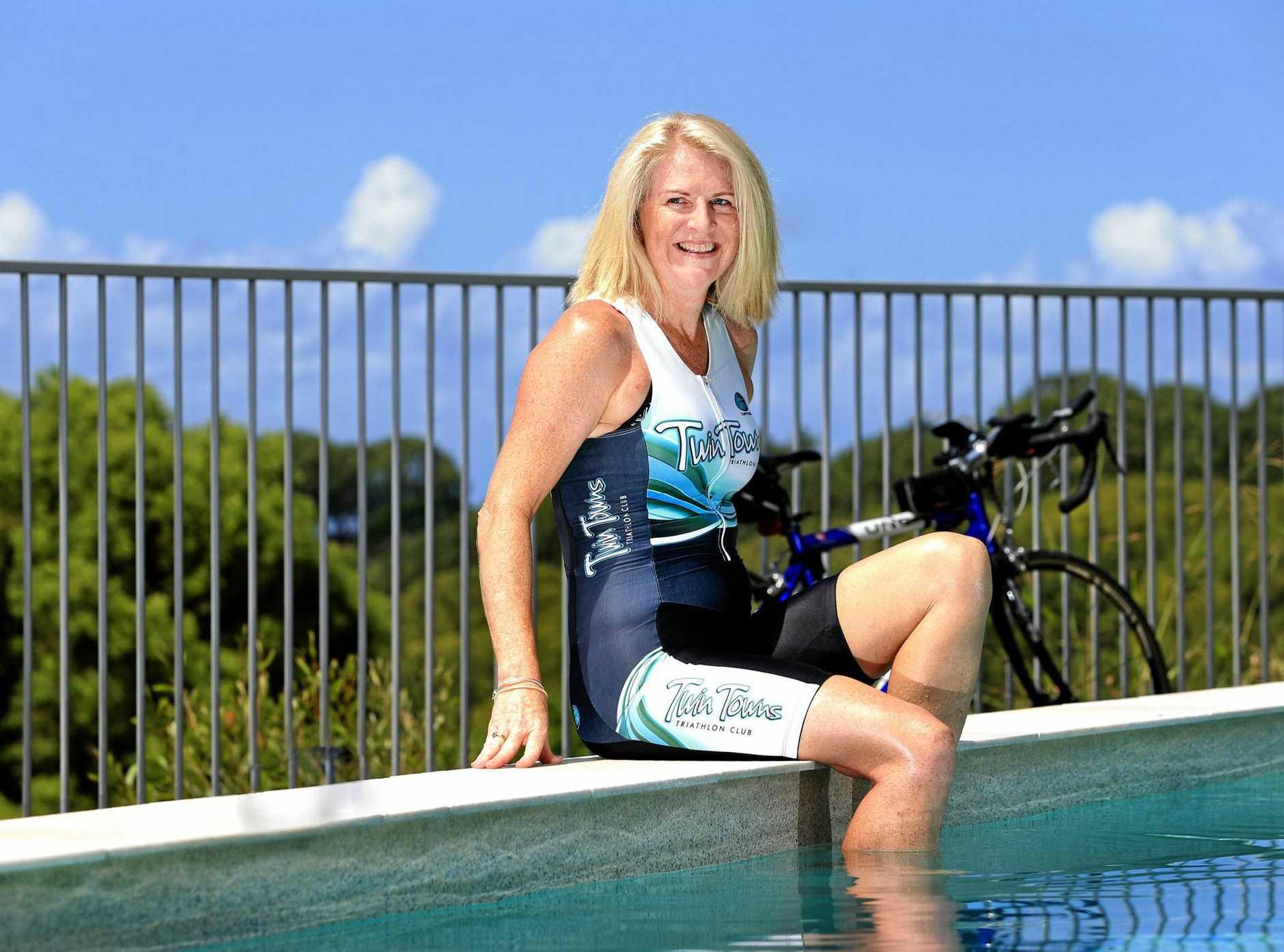 Athlete Ange Reid is back on track after surviving cancer.