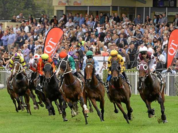 The Channel 7 Ipswich Cup won by Maurus. Trained by David Vandyke and ridden by Damian Browne.
