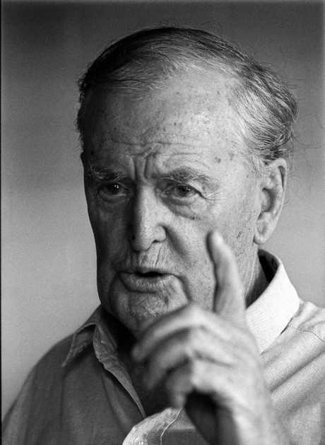 LEADER: Former Premier Sir Joh Bjelke Petersen at Bethany, 12 Feb 1998.