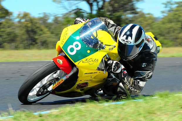 NEED FOR SPEED: Motorcycle Sportsmen of Queensland vice-president Simon Dickson will compete in the production class at Morgan Park Raceway this weekend.