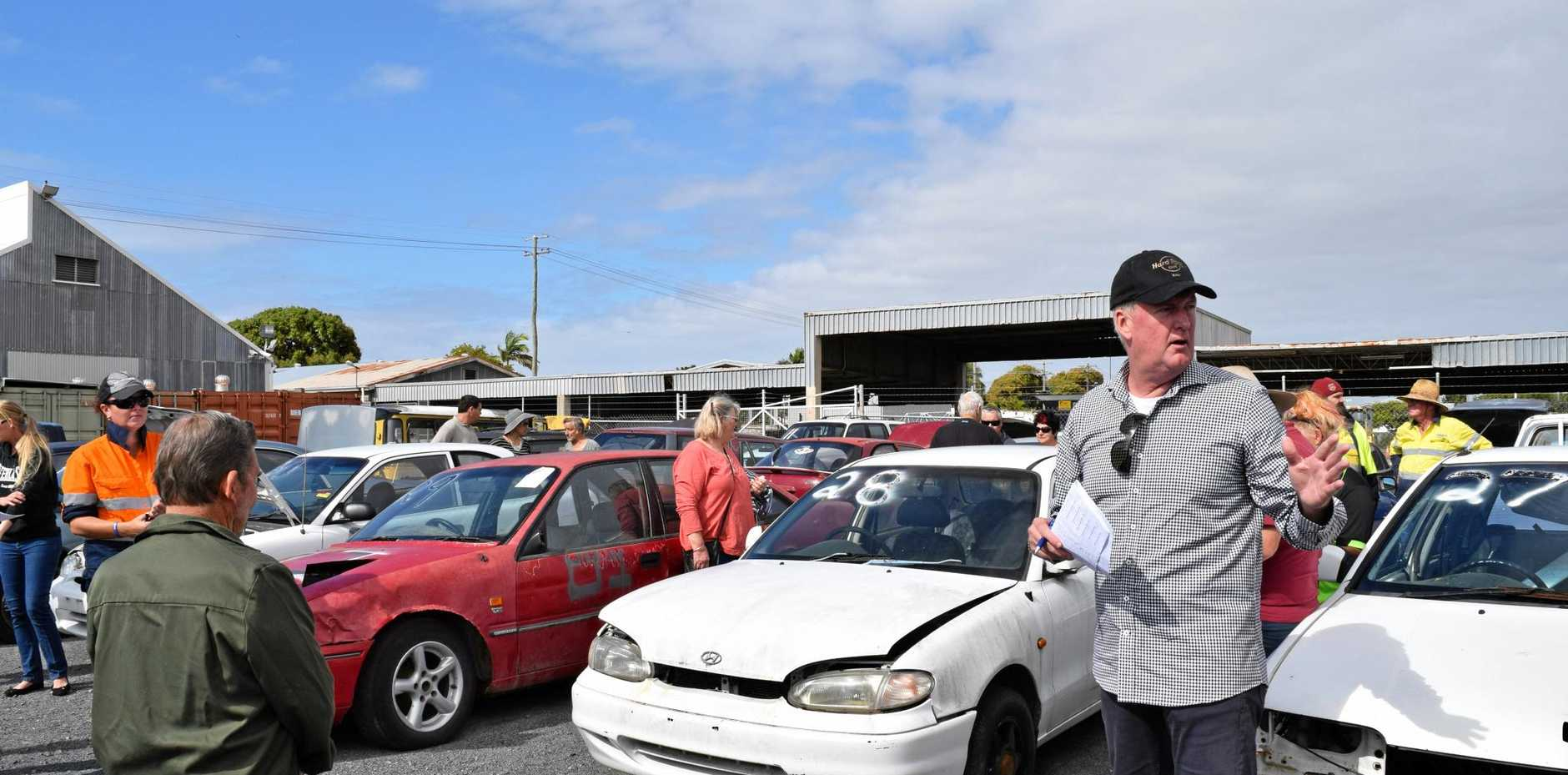 BIG CROWD: The last impounded car auction, held in Mackay, attracted around 150 people.