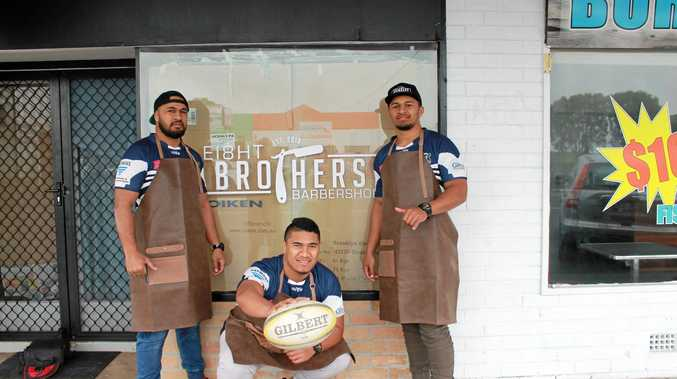 CUT ABOVE: Brothers Oka, Stan and Anthony Lolohea run a barber shop and also play rugby union for Ballina.