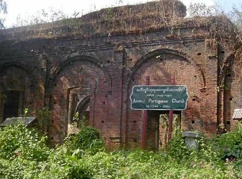 The subject of Dr Prangnell's talk, the oldest surviving colonial period building in Myanmar.