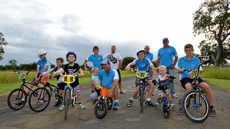 READY TO ROLL: Young members of the Casino BMX Club are excited at the idea of the Northern Rivers Rail Trail which will start from Casino and go all the way to Murwillumbah.    Photo Samantha Elley / Express Examiner