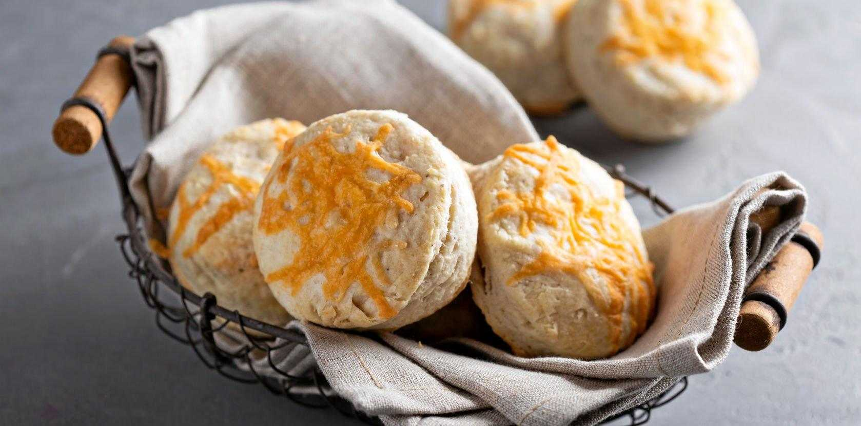 Golden savoury cheese scones are a lunchtime treat from New Zealand.