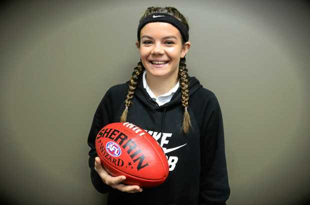SOARING HIGH: Grafton Tigers junior Jordan Speechley will step up into the AFL North Coast womens team to play against Ballina Bombers today.