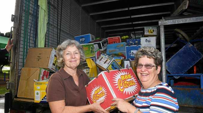 BOOK LOVERS PARADISE: Little Haven book sale co-ordinator Karen Roberts and volunteer Diana Harris.
