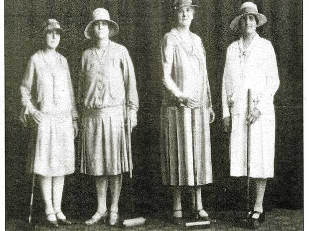 LOOKING BACK: A 1920s-era photo taken at the Ipswich Croquet Club.