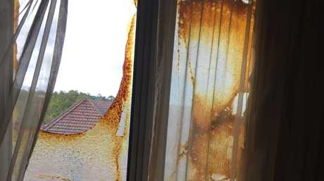 Damage as seen from inside the hotel. Photo contributed