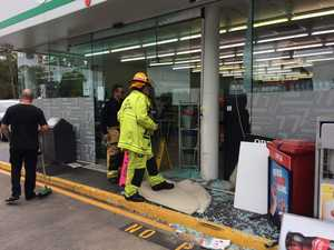 Car smashes through front doors of Coast store