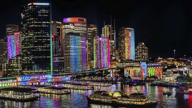 Sydney during Vivid 2016.