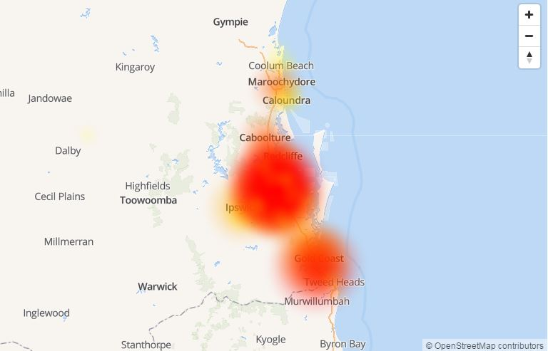 SEQ customers are experiencing the brunt of today's Optus outage.