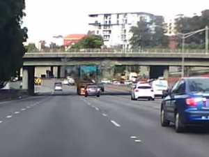 Dashcam captures Perth bridge strike