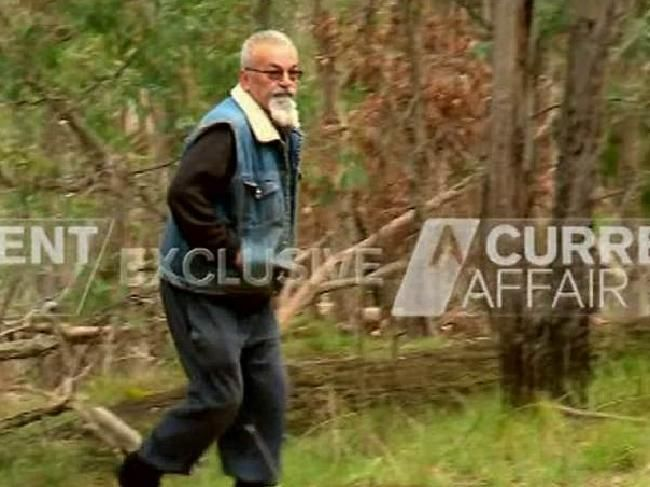 Karen Ristevski's brother-in-law, Vasko Ristevski, was seen lurking near the site her body was discovered. Image: Channel 9Source:Supplied