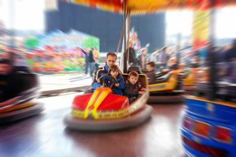 Have fun on the Dodgems at the Pioneer Valley Show.