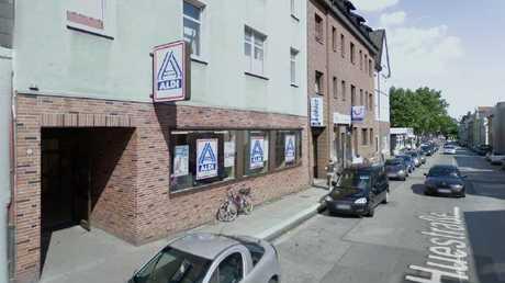 The same Aldi Nord store in Essen today.