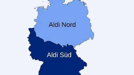 "The so-called ""Aldi equator"", the line through Germany that splits the two Aldis."