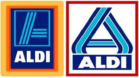 The logos of Aldi Sud (left) and Aldi Nord (right).