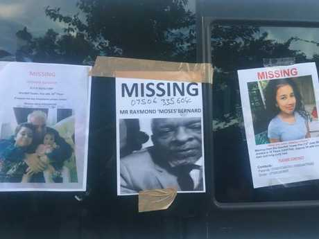 Missing persons posters at Grenfell Towers after the fire in London.