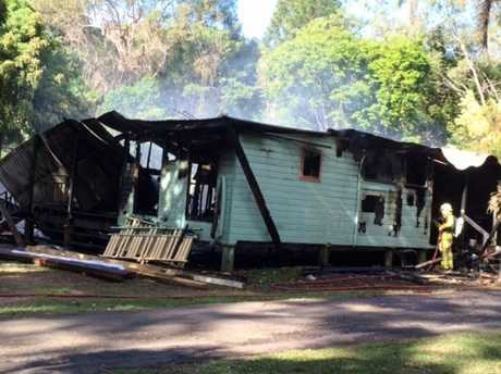 The house on Browns Creek Rd has been completely gutted after a fire tore through the home.