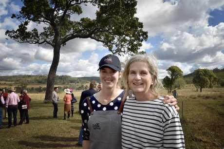 Jessie Francis, co-organiser (left) and Sally McCreath. Long lunch at Felton raises money for MS. June 2017