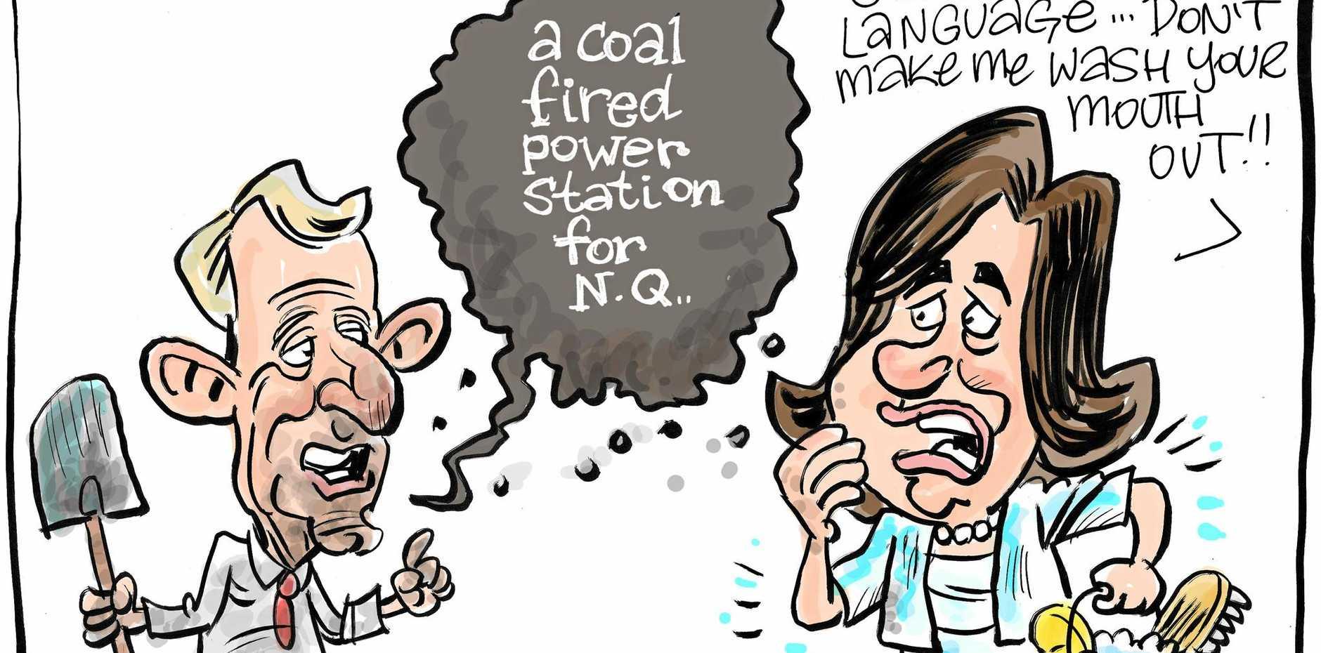 Harry Bruce cartoon jim pearce coal-fired power