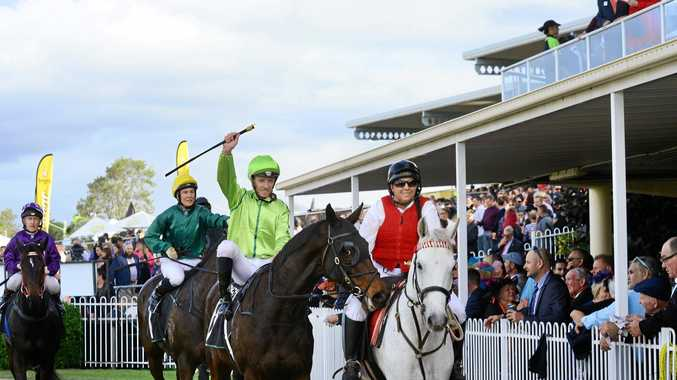 IPSWICH TRILOGY: Riding Self Sense, veteran jockey Michael Cahill ended his 20-year wait with victory in Saturday's Ipswich Cup.