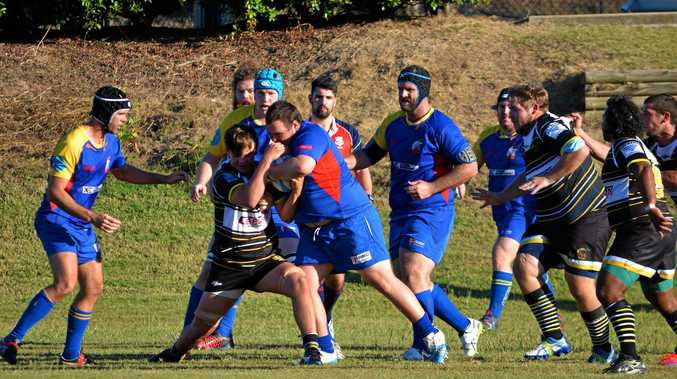 BREAKTHROUGH: Dylan Johnson steals the ball and makes a bust during the Goats' 44-29 victory over Cap Coast Crocs.