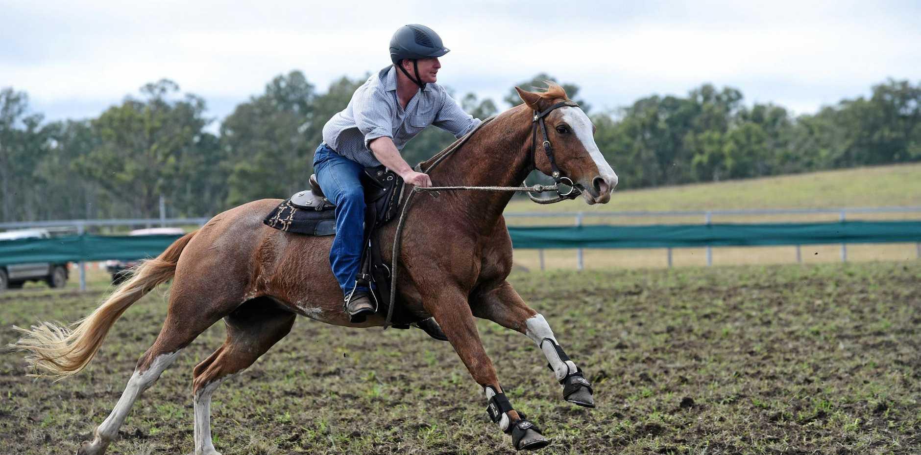 Teebar Rodeo and Campdraft - Mark Wortman on Beau.