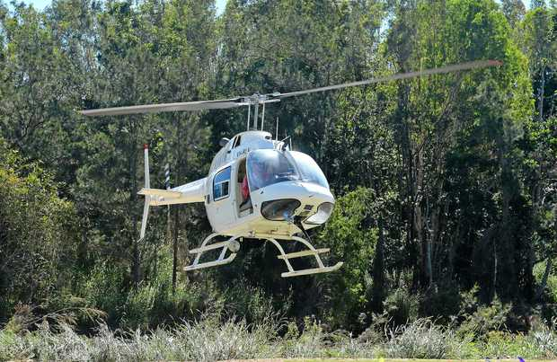 Heli-Central took people for flights over the show at Finch Hatton.