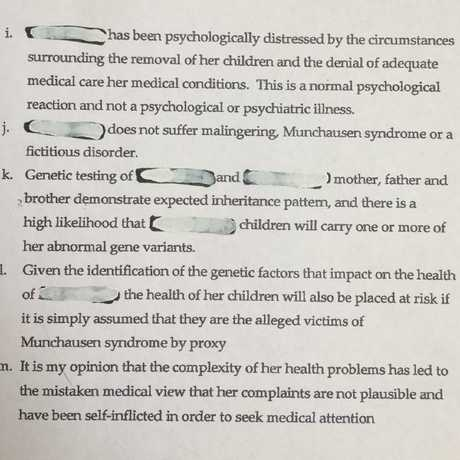 Dr Bolt's assessment continued.Source:Supplied
