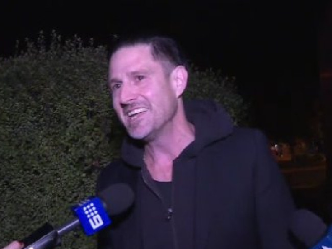 Wil Anderson following his arrest at Wagga Wagga Airport this afternoon.