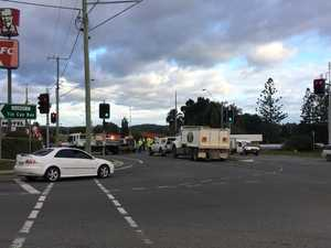 Gympie four vehicle accident