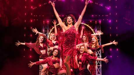 The Australian cast of the musical Kinky Boots.